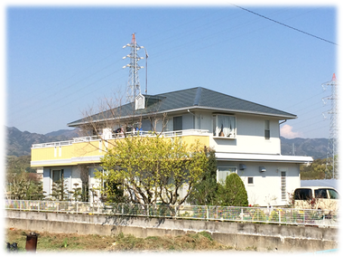 松阪市立野町 森本様邸、屋根・外壁塗装、ベランダ防水工事