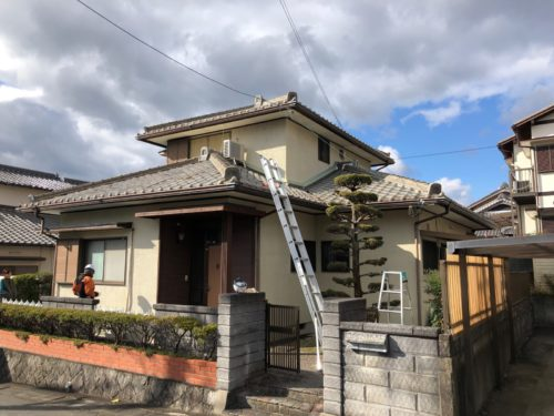 松阪市光町 H様邸、外装リフォーム工事