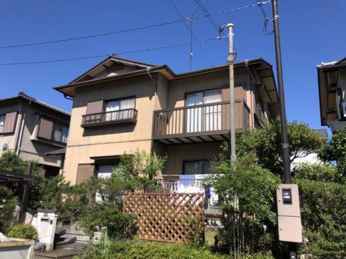松阪市虹が丘町O様邸、外装リフォーム工事