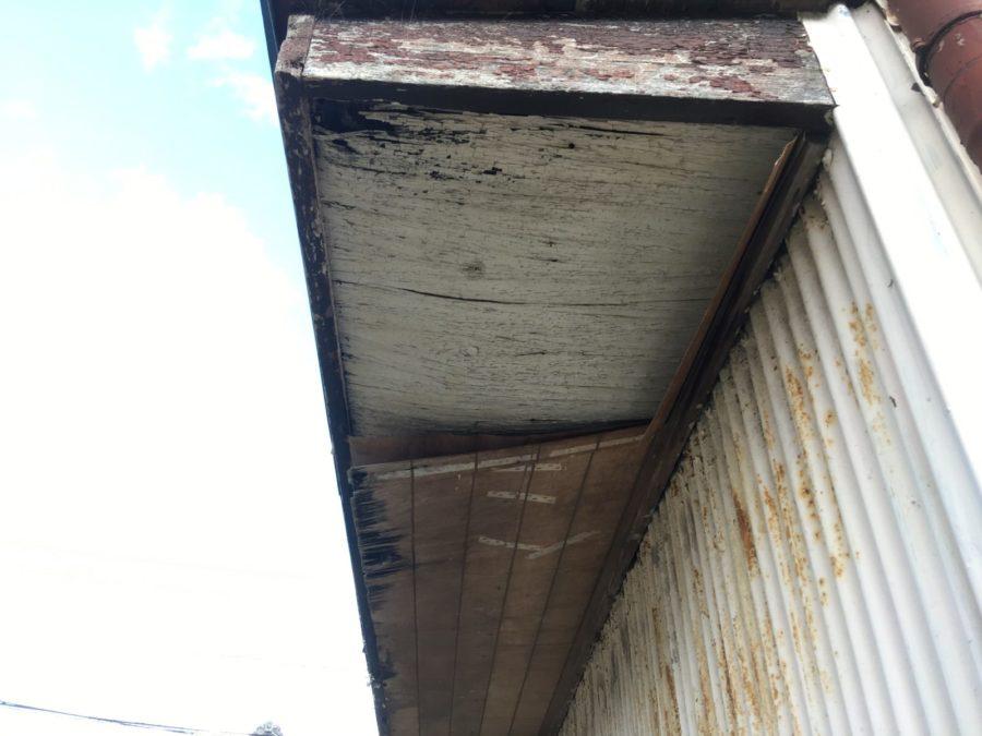外窓の日除け(小庇)補修工事
